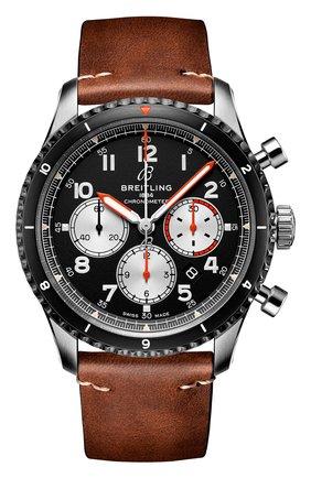 Мужские часы aviator 8 b01 chronograph 43 mosquito BREITLING черного цвета, арт. AB01194A1B1X1 | Фото 1