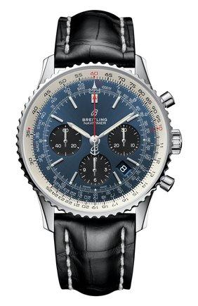 Мужские часы b01 chronograph 43 BREITLING синего цвета, арт. AB0121211C1P1 | Фото 1