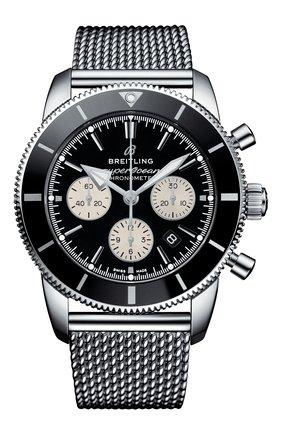 Мужские часы superocean heritage ii b01 chronograph BREITLING черного цвета, арт. AB0162121B1A1 | Фото 1