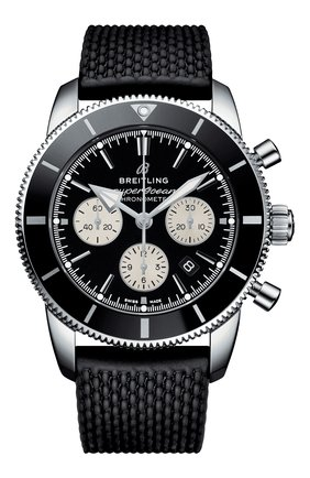 Мужские часы superocean heritage ii b01 chronograph BREITLING черного цвета, арт. AB0162121B1S1 | Фото 1