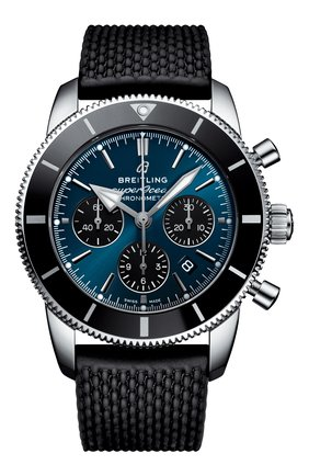 Мужские часы superocean heritage ii b01 chronograph 44 BREITLING синего цвета, арт. AB0162121C1S1 | Фото 1