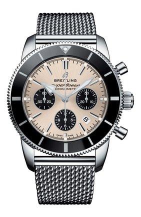 Мужские часы superocean heritage ii b01 chronograph BREITLING серебряного цвета, арт. AB0162121G1A1 | Фото 1