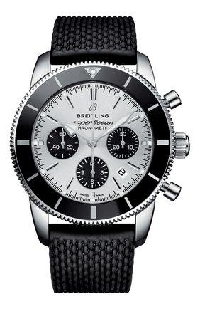 Мужские часы superocean heritage ii b01 chronograph BREITLING серебряного цвета, арт. AB0162121G1S1 | Фото 1