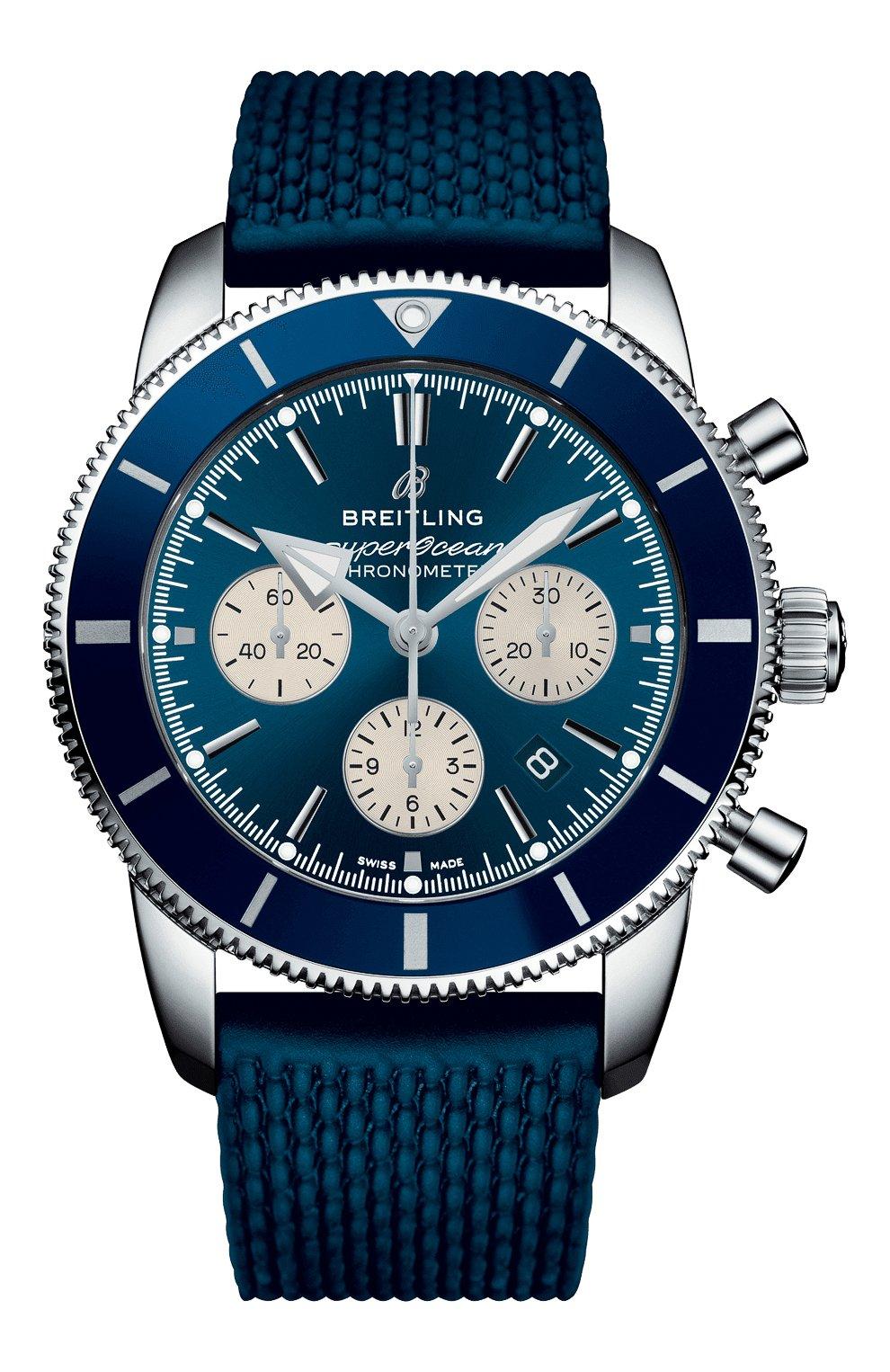 Мужские часы superocean heritage ii b01 chronograph BREITLING синего цвета, арт. AB0162161C1S1 | Фото 1