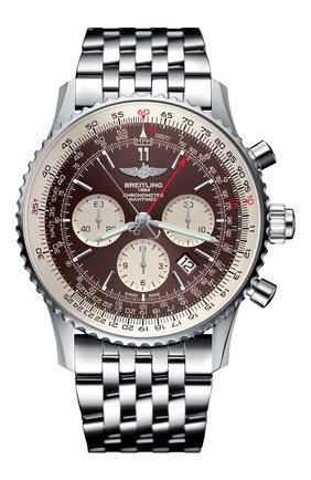 Мужские часы navitimer rattrapante BREITLING бесцветного цвета, арт. AB0310211Q1A1 | Фото 1