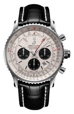 Мужские часы navitimer b03 chronograph rattrapante BREITLING серебряного цвета, арт. AB0311211G1P2 | Фото 1