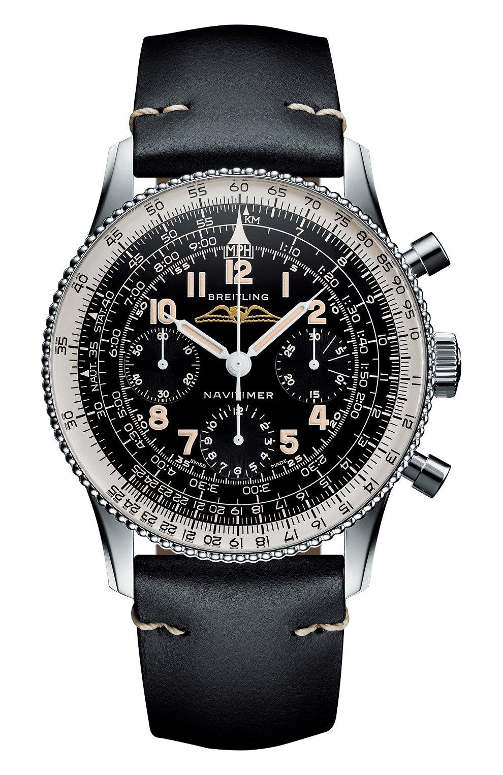 Мужские часы navitimer ref. 806 1959 re-edition BREITLING черного цвета, арт. AB0910371B1X1 | Фото 1