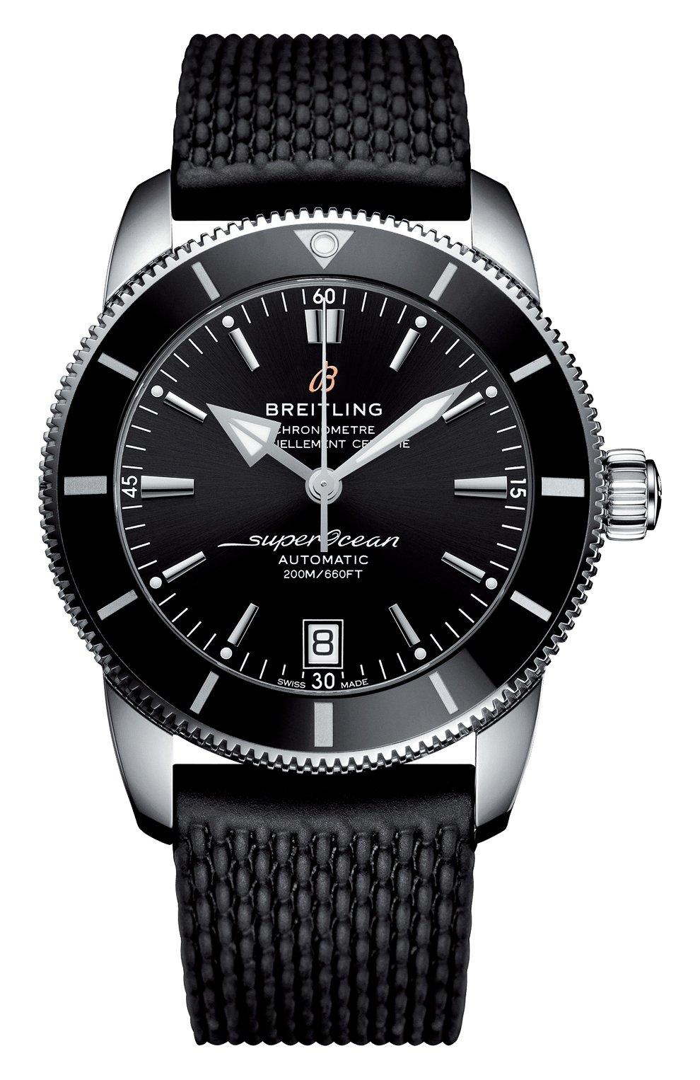 Мужские часы top range 2018 BREITLING черного цвета, арт. AB2010121B1S1 | Фото 1