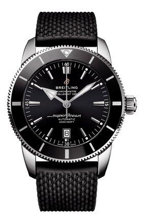 Мужские часы superocean heritage ii BREITLING черного цвета, арт. AB2020121B1S1 | Фото 1