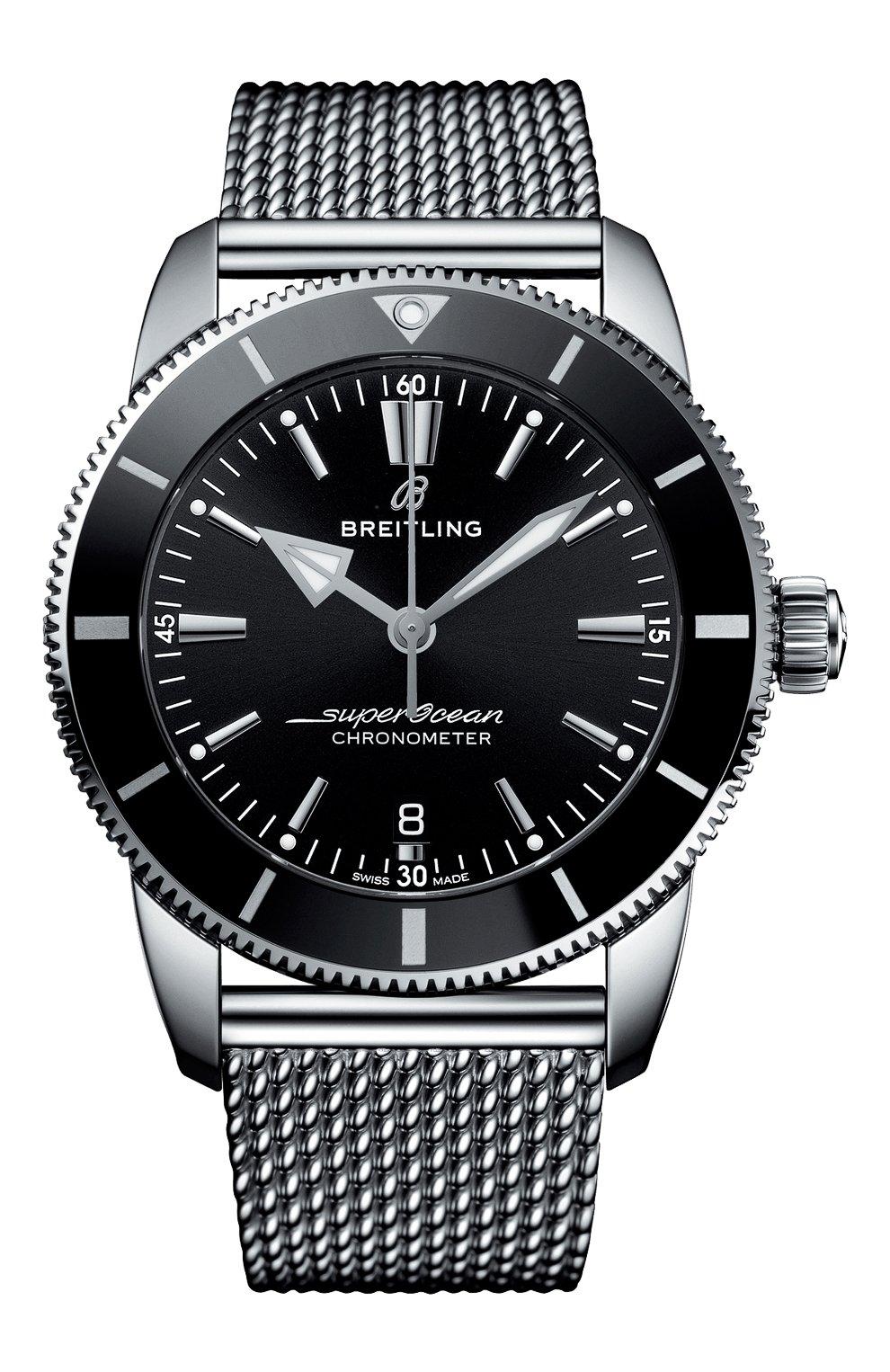 Мужские часы superocean heritage ii b20 automatic 44 BREITLING черного цвета, арт. AB2030121B1A1 | Фото 1