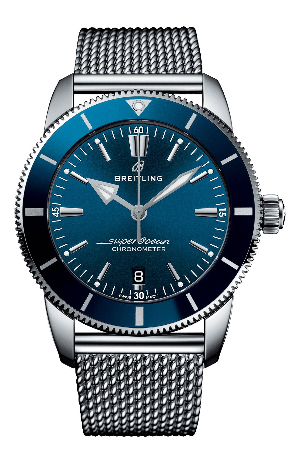 Мужские часы superocean heritage ii b20 automatic BREITLING синего цвета, арт. AB2030161C1A1 | Фото 1