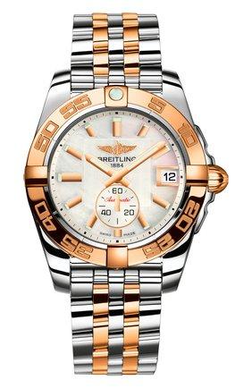 Женские часы galactic 36 automatic BREITLING перламутрового цвета, арт. C37330121A1C1 | Фото 1