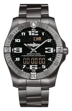 Мужские часы aerospace evo BREITLING черного цвета, арт. E79363101B1E1   Фото 1