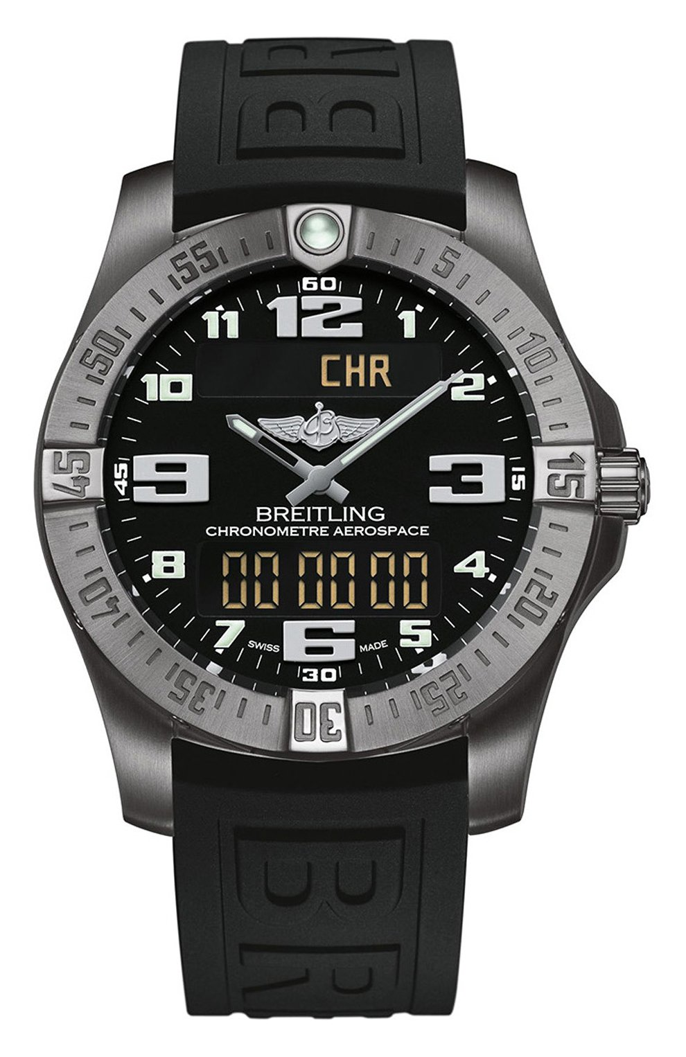 Мужские часы aerospace evo black BREITLING черного цвета, арт. E79363101B1S1 | Фото 1