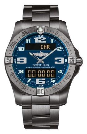 Мужские часы aerospace evo titanium blue BREITLING синего цвета, арт. E79363101C1E1 | Фото 1