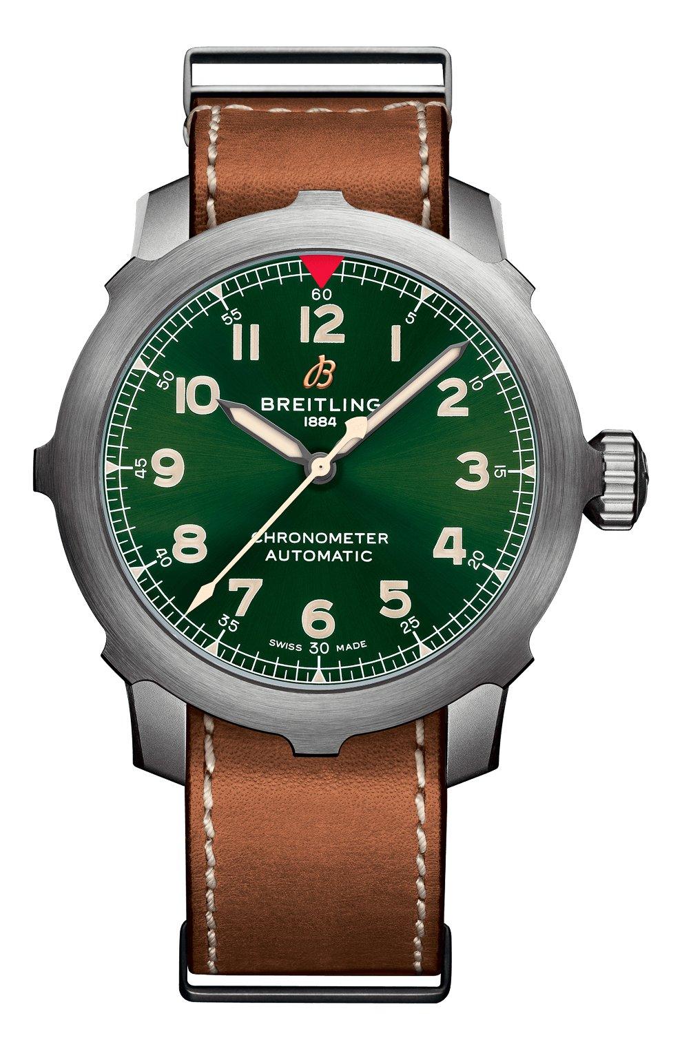 Мужские часы aviator 8 super 8 b20 BREITLING зеленого цвета, арт. EB2040101L1X1 | Фото 1