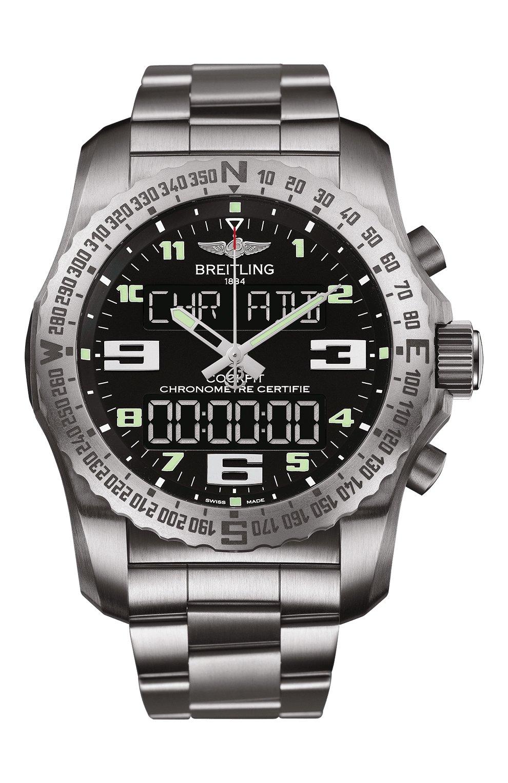 Мужские часы cockpit b50 BREITLING черного цвета, арт. EB5010221B1E1 | Фото 1