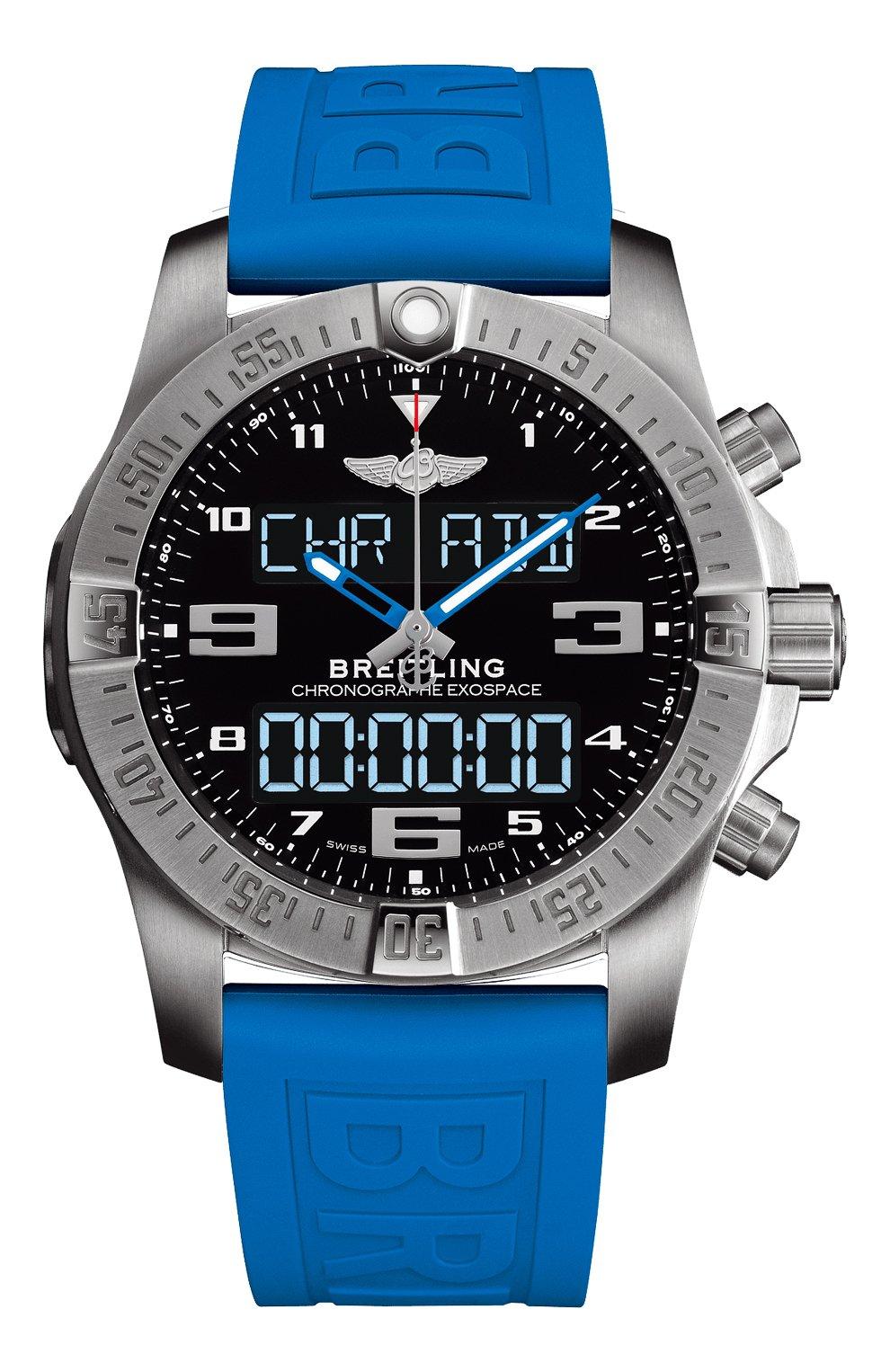 Мужские часы exospace b55 BREITLING черного цвета, арт. EB5510H21B1S1   Фото 1