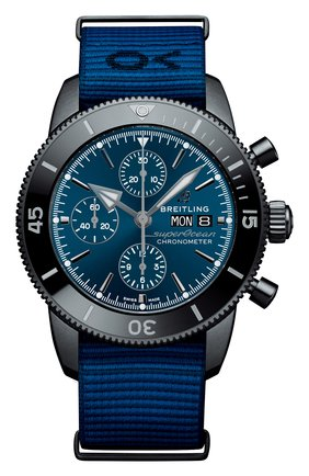 Мужские часы superocean heritage chronograph 44 outerknown BREITLING синего цвета, арт. M133132A1C1W1 | Фото 1