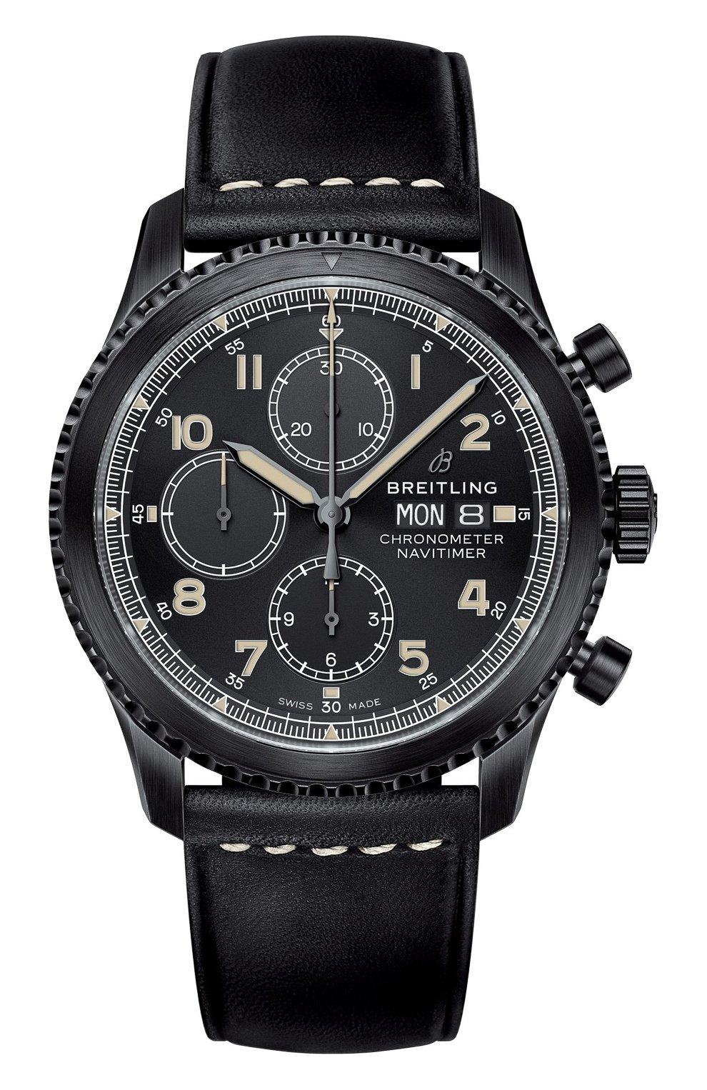 Мужские часы navitimer 8 BREITLING черного цвета, арт. M13314101B1X1 | Фото 1