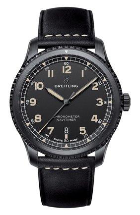 Мужские часы navitimer 8 BREITLING черного цвета, арт. M17314101B1X1 | Фото 1