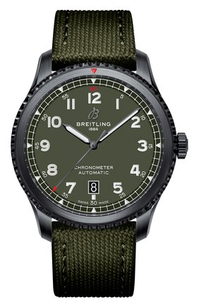Мужские часы aviator 8 automatic 41 curtiss warhawk BREITLING зеленого цвета, арт. M173152A1L1X1 | Фото 1
