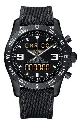 Мужские часы chronospace military BREITLING черного цвета, арт. M78367101B1W1 | Фото 1