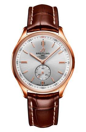 Мужские часы premier automatic 40 BREITLING серебряного цвета, арт. R37340351G1P1 | Фото 1