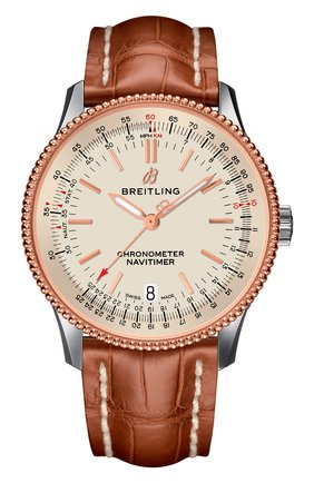 Мужские часы navitimer 1 automatic 38 BREITLING бежевого цвета, арт. U17325211G1P1 | Фото 1
