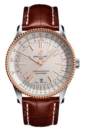 Мужские часы navitimer 1 automatic 41 BREITLING серебряного цвета, арт. U17326211G1P2 | Фото 1