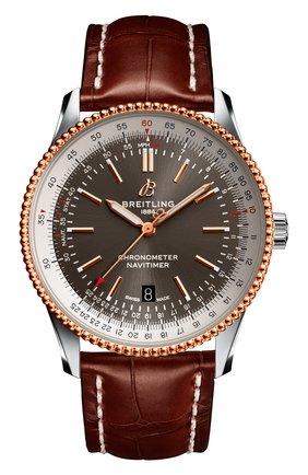 Мужские часы navitimer 1 automatic 41 BREITLING коричневого цвета, арт. U17326211M1P2 | Фото 1
