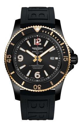 Мужские часы superocean automatic 46 BREITLING черного цвета, арт. U17368221B1S1 | Фото 1
