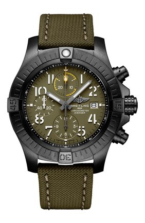 Мужские часы avenger chronograph 45 night mission BREITLING зеленого цвета, арт. V13317101L1X1 | Фото 1