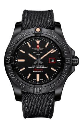Мужские часы blackbird 44 BREITLING черного цвета, арт. V17311101B1W1 | Фото 1