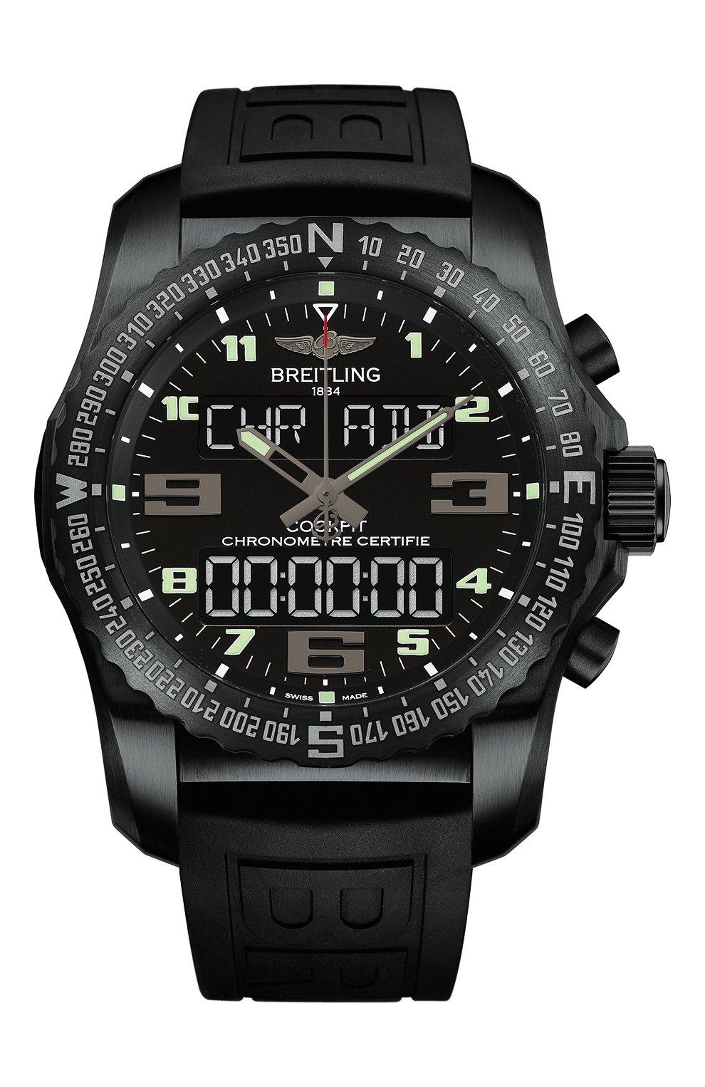 Мужские часы cockpit b50 BREITLING черного цвета, арт. VB5010221B1S1 | Фото 1