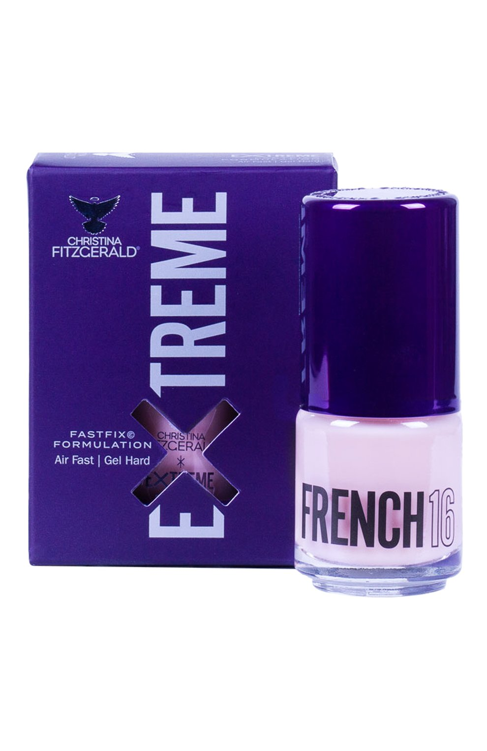 Женский лак для ногтей extreme, оттенок 16 french CHRISTINA FITZGERALD бесцветного цвета, арт. 9333381005052 | Фото 1