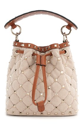 Женская сумка valentino garavani spike.it VALENTINO коричневого цвета, арт. TW2B0B59/BWH | Фото 1