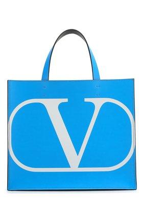 Женский сумка-тоут valentino garavani vlogo VALENTINO синего цвета, арт. TW0B0G70/BXT | Фото 1