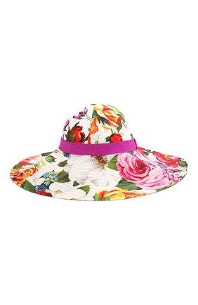 Женская хлопковая шляпа DOLCE & GABBANA разноцветного цвета, арт. FH488A/FSFJG | Фото 1