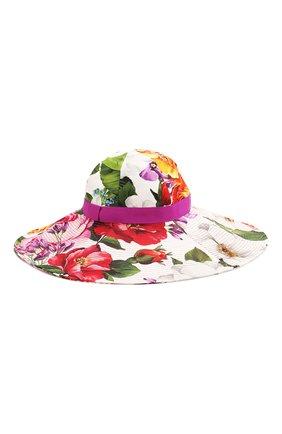 Женская хлопковая шляпа DOLCE & GABBANA разноцветного цвета, арт. FH488A/FSFJG | Фото 2