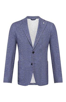 Мужской хлопковый пиджак L.B.M. 1911 синего цвета, арт. 2817/05901 | Фото 1