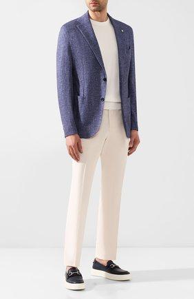 Мужской хлопковый пиджак L.B.M. 1911 синего цвета, арт. 2817/05901 | Фото 2