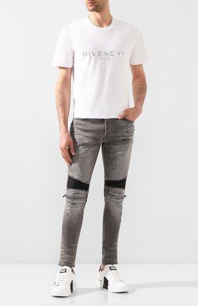 Мужские джинсы AMIRI серого цвета, арт. Y0M01185SD | Фото 2