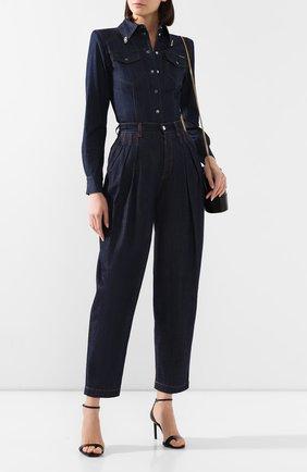 Женская джинсовая рубашка DOLCE & GABBANA темно-синего цвета, арт. F5L88Z/G890Y   Фото 2