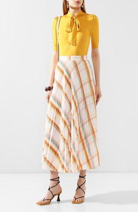 Женская шелковый пуловер DOLCE & GABBANA желтого цвета, арт. FX706T/JASIP | Фото 2