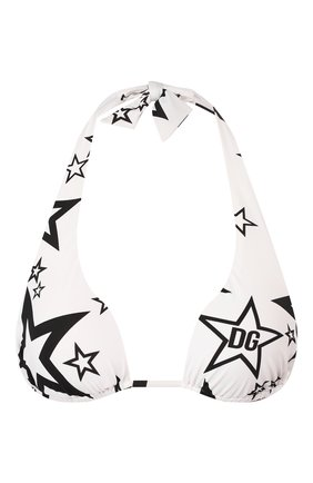 Женский треугольный бра DOLCE & GABBANA белого цвета, арт. 01A01J/FSGRT | Фото 1