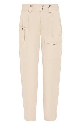 Женские хлопковые брюки DOLCE & GABBANA бежевого цвета, арт. FTBRQT/FU6WE | Фото 1