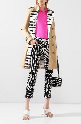 Женские хлопковые брюки DOLCE & GABBANA черно-белого цвета, арт. FTAGNT/FSFJ2 | Фото 2