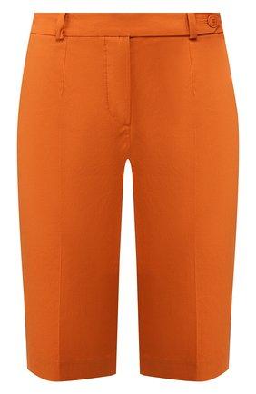 Женские хлопковые шорты LORO PIANA оранжевого цвета, арт. FAI6014 | Фото 1