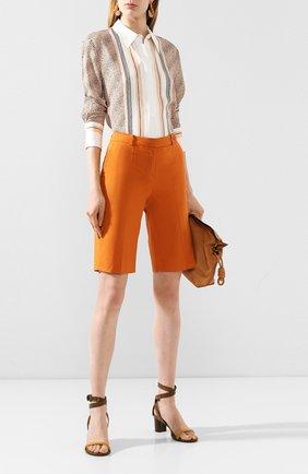Женские хлопковые шорты LORO PIANA оранжевого цвета, арт. FAI6014 | Фото 2